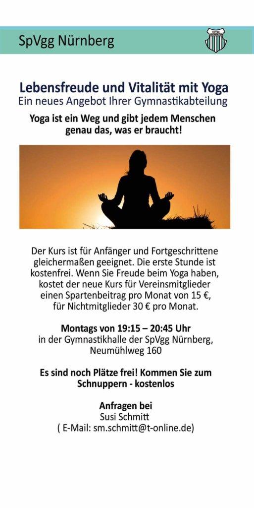+++ Yoga bei der SpVgg Nürnberg +++