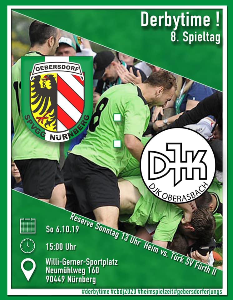 +++ Derby in Gebersdorf: SpVgg empfängt Oberasbach +++