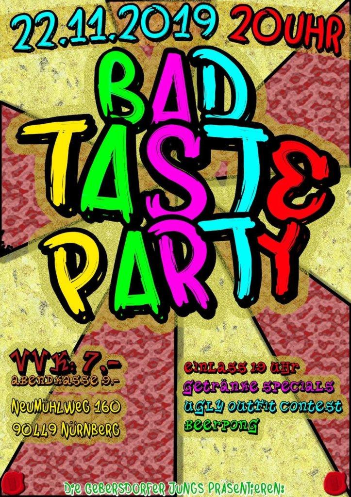 Gebersdorf feiert den schlechten Geschmack: Bad Taste Party steht vor der Tür!
