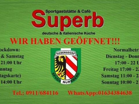 Sportheim weiterhin geöffnet! 🖤💚